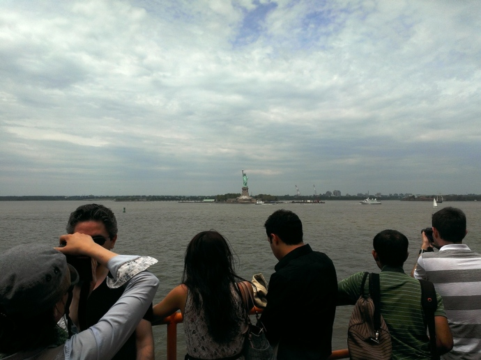We got a lot closer to Lady Liberty on our way back to Staten Island.